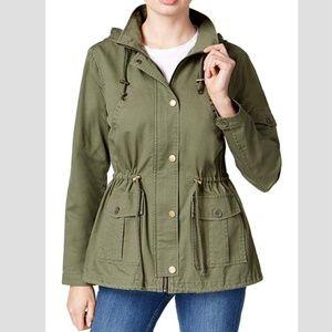 Maralyn & Me Utility Hooded Jacket Olive Size M